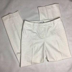 Alberto Makali metallic white dress pants Size:8